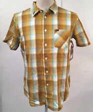 Loser Machine Men's SS Woven Shirt Cunningham Brown Plaid Size S NWT