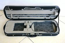 Luxury&Royal Wooden Violin Case Sturdy&Durable 3.2kg Black Color Free Shipping