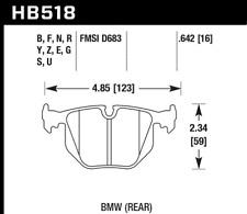 Hawk Disc Brake Pad Rear for Land Rover Range Rover, BMW 330i, 740i / HB518G.642