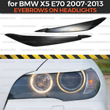 Eyelids Eyebrows on headlights for BMW X5 E70 covers brows ABS plastic