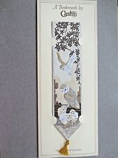 Cash's Woven BOOKMARK OWLS Stevengraph In Flight Owlet Chicks Birds ON CARD