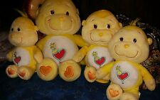 Lot of 4 plush Care Bears Cousins Playful Heart Monkey