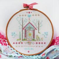 "DMC Cross Stitch Printed on Ideal Starter Kit  ""Home"" by Tamar Nahir-Yanai"