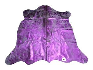 Pink Acid Washed COWHIDE RUG – Size: 7'x 6' Ft – Premium Cow Hide Rug