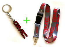 2 in 1 Combo Package GMC Lanyards and Key Chain Keychain Gray/Red