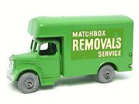 Matchbox Lesney No.17a Bedford Removal Van (LIGHT GREEN)