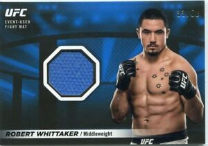 2018 Topps UFC Knockout ROBERT WHITTAKER Blue Fight Mat Relic from UFC 160 /50