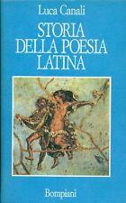 CANALI Luca. Storia della poesia latina
