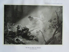 ca. 1910 MIT GOTT FÜR KÖNIG UND VATERLAND PAUWELS alter Druck Antique Print