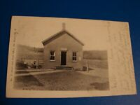 STORE AND POST OFFICE DE BRUCE NY REAL PHOTO POSTCARD POSTED 1907