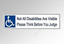 not all disabilities are visible car bumper sticker disability vinyl 200 x 52 mm