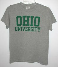 Ohio University Bobcats Gray T-Shirt Men's Small Athens Ohio Gildan Dry Blend