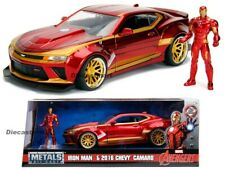 Jada 1:24 Hollywood Rides 2016 Chevy Camaro SS Iron Man Figure 99724 Avengers