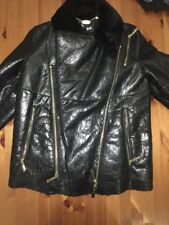 Just Cavalli Shearling Jacket Biker NWT It. 40 Dz. 36/38
