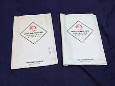 Holden Dealership Wallet Owners manual vl vb vh vk vn vp hsv hdt vy vz vt vx B4