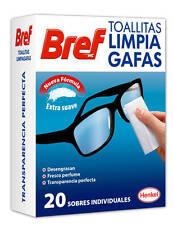 TOALLITAS LIMPIA GAFAS BREF. 3 CAJAS DE 20 UDS