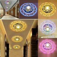 Moderne Cristal LED Plafond Lumière Fixation Rayon CouloirPendentif Lampe Lustre