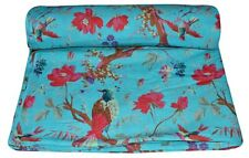 5 Yard Hand Block Birds Print Fabric Natural Handmade Cotton Indian Sanganeri