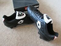 Lotto Youth Classe HG-R JR Soccer Cleat Shoes HG Black White Kids F7384 NOS!