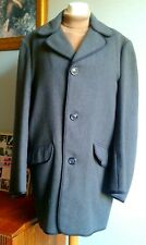 Vintage Retro 60s Coat Jacket L Mods Michael Caine Modernist