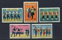 31070) Turkey 1975 MNH Folk Dances 5v Scott #2009/13