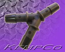"(1) 3/8"" Hose-Barb Y WYE Connector Fitting Black Nylon HHO Air Fuel 3-Way Split"