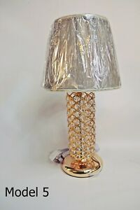Thin metallic frame crystallic table lamp with incorporated LED [HGC01]