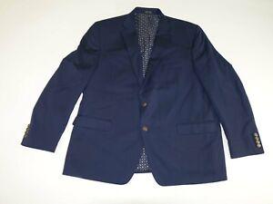 Chaps Men's Blazer Size 48 Regular Navy Blue 48R Polyester Sports Jacket Lined