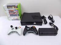 Like New Xbox 360 Slim Console 250Gb + 2x Wireless Controllers + 15x Games