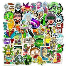 Stickerbomb set 50 stickers Rick and Morty laptop skateboard car