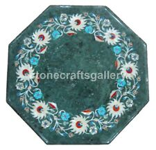 """12"""" Mother of Pearl Floral Inlay Marble Side Coffee Table Top Garden Decors B172"""