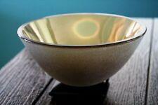 """Vintage Original Stephen Schlanser """"Artifact"""" Glass Bowl 24K Gold Leaf 7.25"""""""