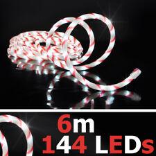 144x LED Lichtschlauch ROT WEISS 6m IP44 OUTDOOR formbar Partyzelt Weihnachten