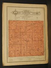 Minnesota Steele County map Lemond Township 1914 W4#85