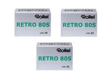 3X Rollei Retro 80S 135-36 / Pellicola negativo bianco e nero