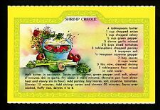 Recipe US postcard Cajun New Orleans, LA Shrimp Creole