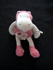 "Doudou hippopotame rose ""Les Zazous"" 24 cm Moulin Roty etat neuf"