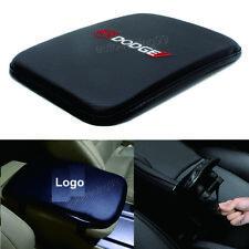 1x Dodge Carbon Fiber Car Armrest Cover Center Console Cushion Pad Mat Accessory