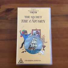 HERGE - THE ADVENTURES OF TINTIN - THE SECRET OF THE UNICORN ON VHS (G) VGC