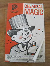 Chemical Magic 1964 Booklet Science Fair Projects Children's Book