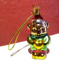 Teddy Bear Ceramic Miniature Christmas Ornament vintage 1990s