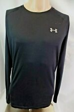 UNDER ARMOUR Heatgear Long Sleeve Athletic T-Shirt Black Men's Large L - EUC