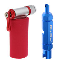 CO2 Presta / Schrader Cycle/Bike/MTB Inflator Air Pump + Valve Core Remover