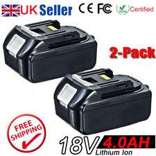 2x 4.0AH 18V Battery For Makita BL1840 BL1830 BL1815 LXT Lithium Ion Cordless UK