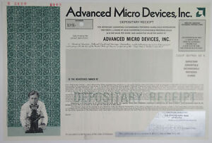 Advanced Micro Devices, Inc., 1987 Odd Shares Specimen Depositary Receipt