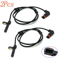 2x Front ABS Wheel Speed Sensor For Mercedes-Benz CL550 2007-11 S63 AMG 2008-11