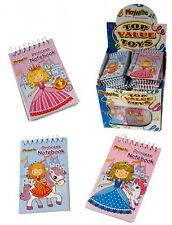 12 Princess Mini Spiral Notebooks for Children's Birthday Party Loot Bags
