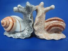 Snail Salt and Pepper Pots - Snail Cruet Set - New