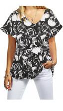Ladies short sleeve V neck Baggy Top Women Loose Baggy T-Shirt Plus size