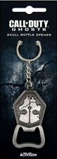 CALL OF DUTY Ghosts Brushed Metal Skull Keychain with Bottle Opener